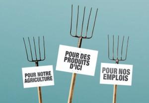Front commun des Producteurs de lait des régions Lanaudière et Outaouais-Laurentides pour exiger que le gouvernement fédéral applique intégralement sa réglementation sur la composition des fromages
