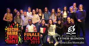 Secondaire en spectacle - Finale locale 2019 - Collège Esther-Blondin